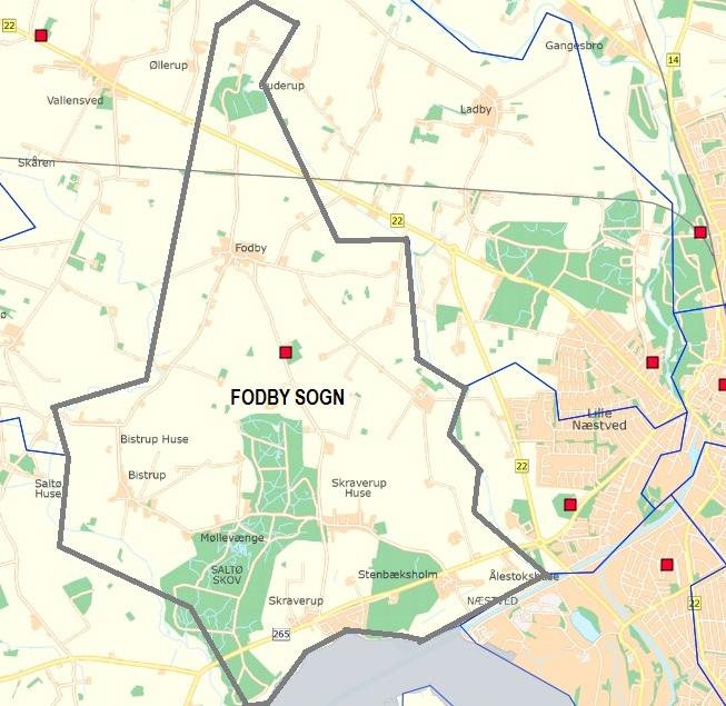 Fodby lokalråds område